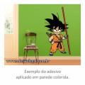 Adesivo - Goku e Bastão - Colorido