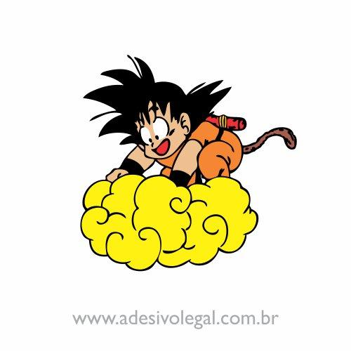 Adesivo - Goku na Nuvem - Colorido