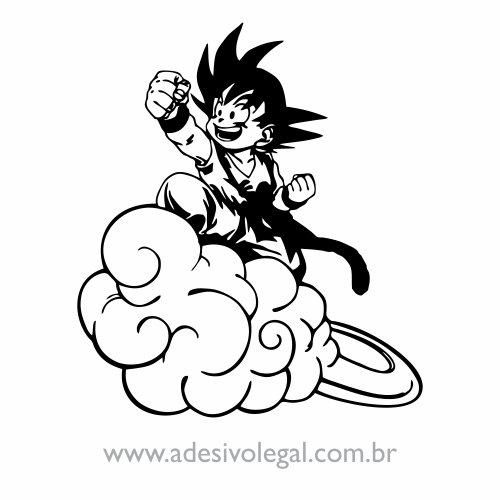 Adesivo - Goku Criança na Nuvem Voadora