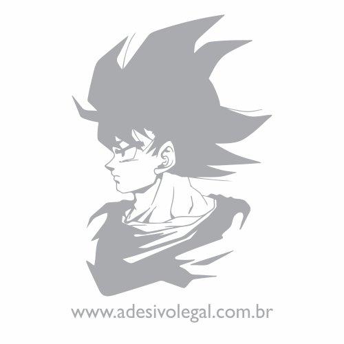 Adesivo Goku Adulto Em Perfil