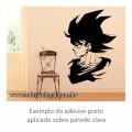 Adesivo - Goku Adulto em Perfil