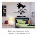 Adesivo - Goku Criança Sorrindo com Bastão