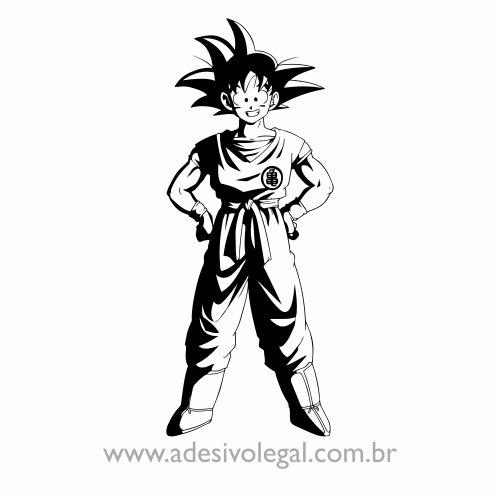 Adesivo - Goku Adulto Sorrindo