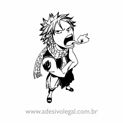 Adesivo - Natsu em Pé - Fairy Tail