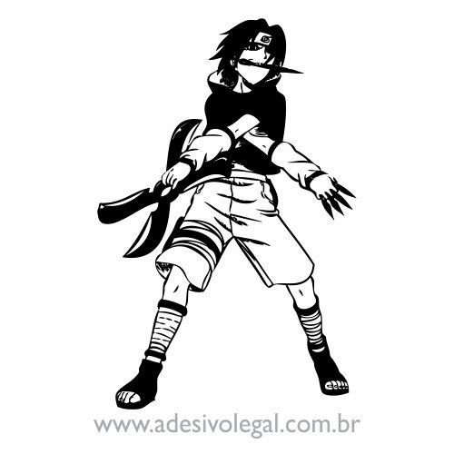 Adesivo - Sasuke com Shuriken - Naruto