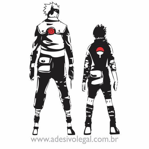 Adesivo - Kakashi e Sasuke - Naruto