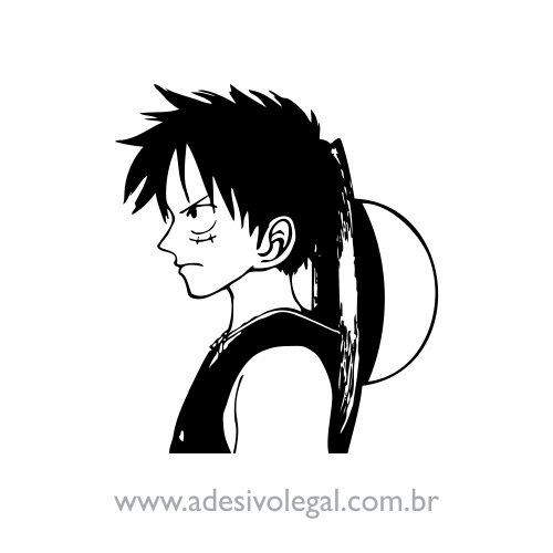 Adesivo - Luffy em Perfil - One Piece