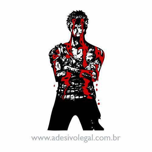 Adesivo - Zoro Sangrando - One Piece