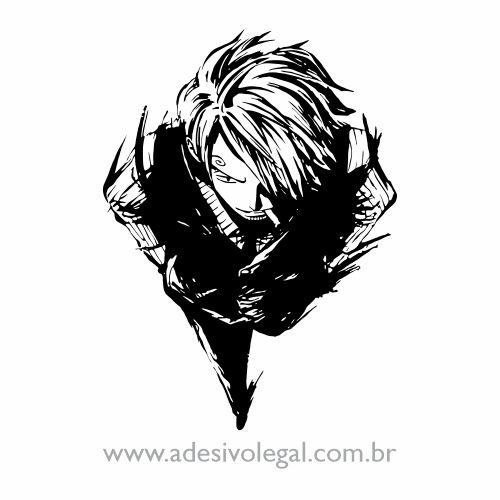 Adesivo - Sanji Perna Negra - One Piece