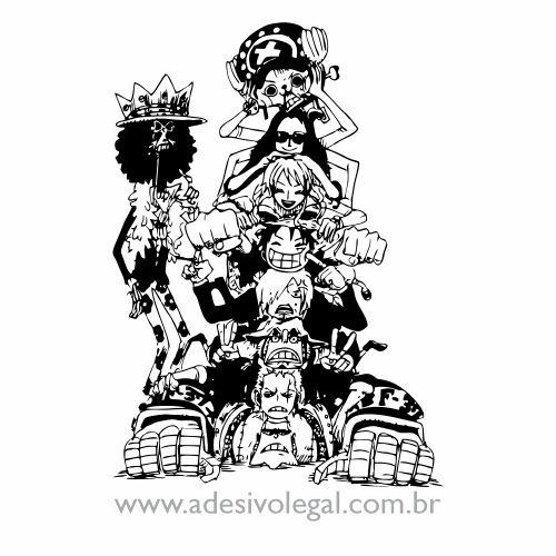Adesivo - Bando do Chapéu de Palha - One Piece