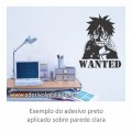 Adesivo - Luffy - Wanted - One Piece