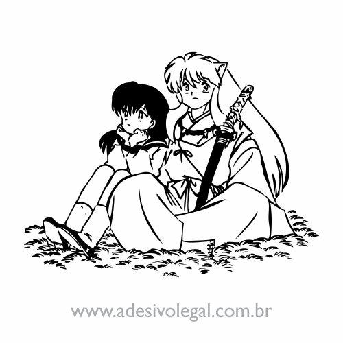 Adesivo - Kagome e Inuyasha