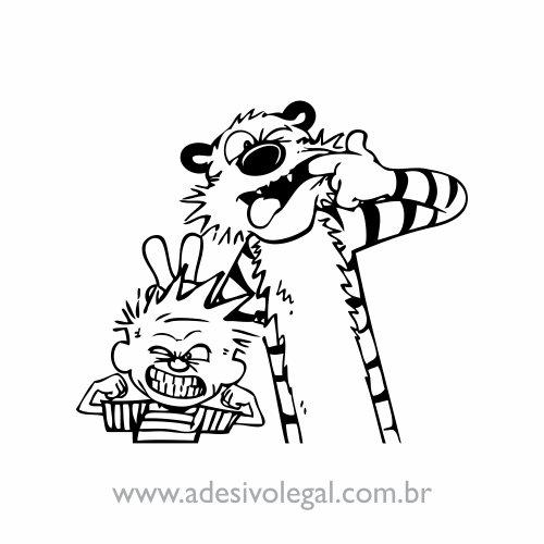 Adesivo - Calvin e Haroldo - Careta