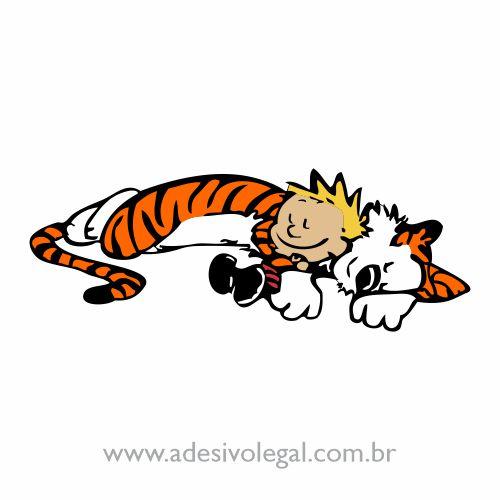 Adesivo - Calvin e Haroldo - Cochilo - Colorido