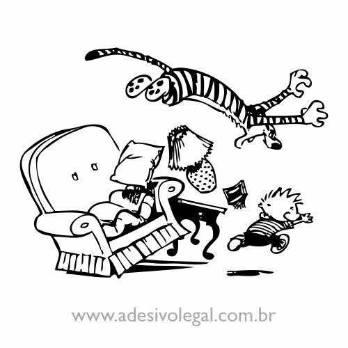 Adesivo - Calvin e Haroldo - Ataque