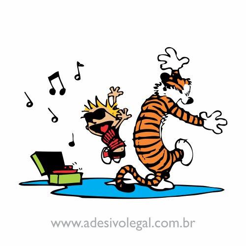 Adesivo - Calvin e Haroldo - Festa - Colorido