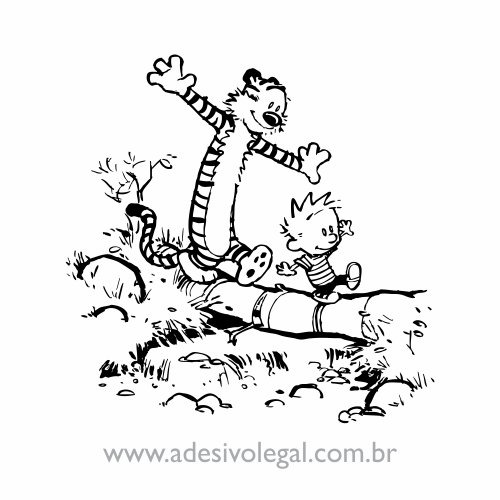 Adesivo - Calvin e Haroldo - Travessia