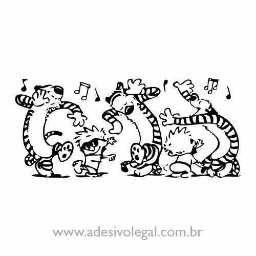 Adesivo - Calvin e Haroldo - Dança 01