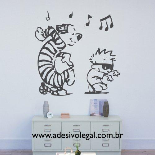Adesivo - Calvin e Haroldo - Dançando