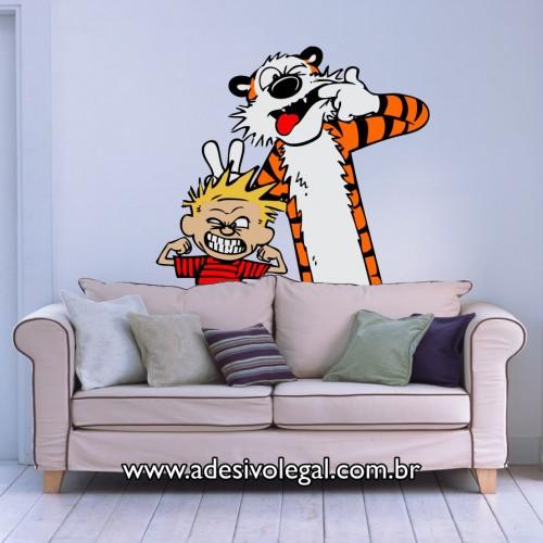 Adesivo - Calvin e Haroldo - Careta - Colorido