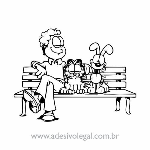 Adesivo - Jon, Garfield e Odie