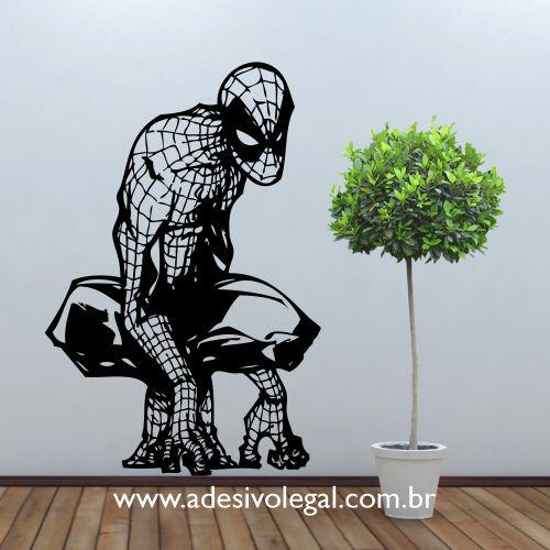 Adesivo - Homem Aranha Agachado