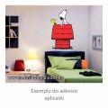 Adesivo - Snoopy e Woodstock no Telhado - Colorido