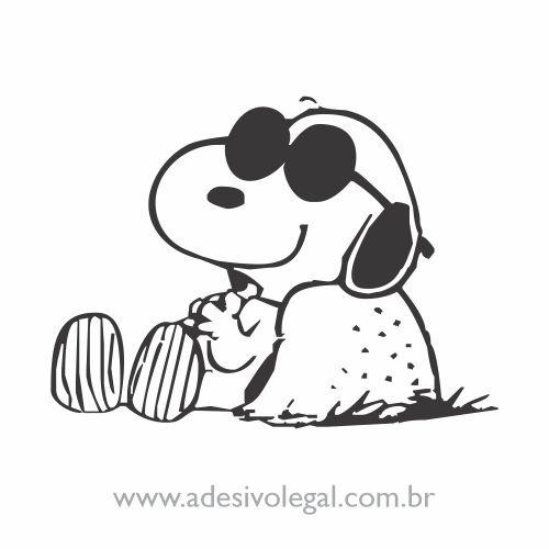 Adesivo - Snoopy Relaxando