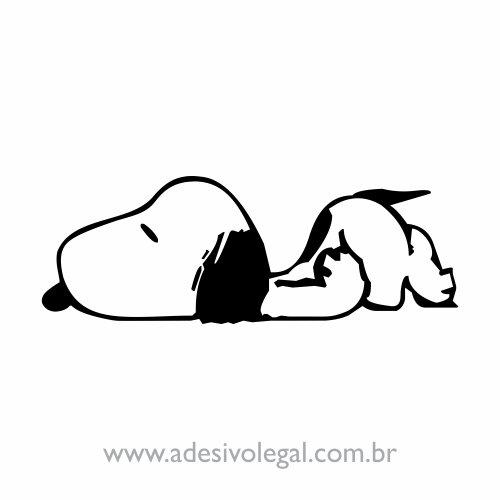 Adesivo - Snoopy Dormindo