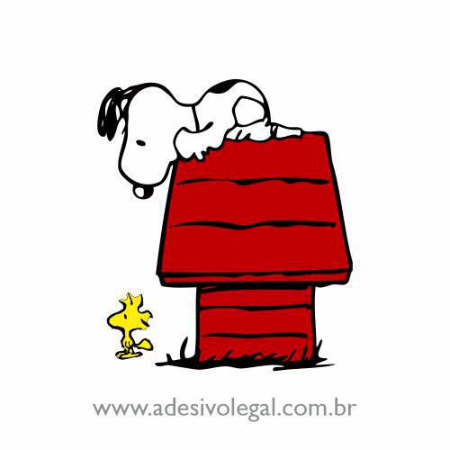 Adesivo - Snoopy observando Woodstock - Colorido
