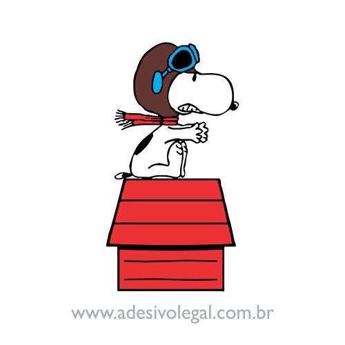 Adesivo - Snoopy Piloto - Colorido