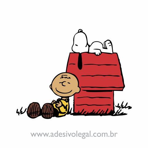 Adesivo - Charlie Brown e Snoopy Dormindo - Colorido
