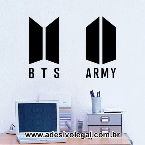 Adesivo - Kpop - BTS e ARMY - Logo