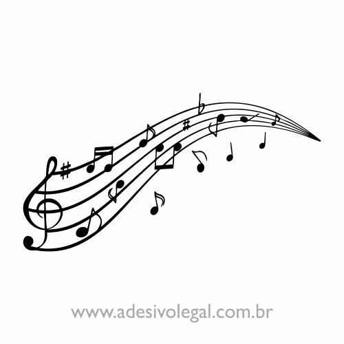 Adesivo - Pauta Musical