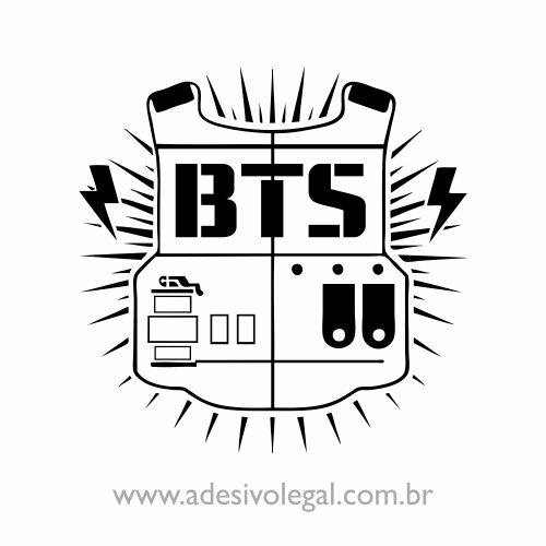Adesivo - Kpop - BTS - Bangtan Boys - Logo