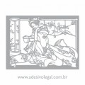 Adesivo - Oriental - Geisha Sentada