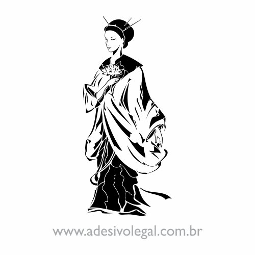 Adesivo - Oriental - Geisha