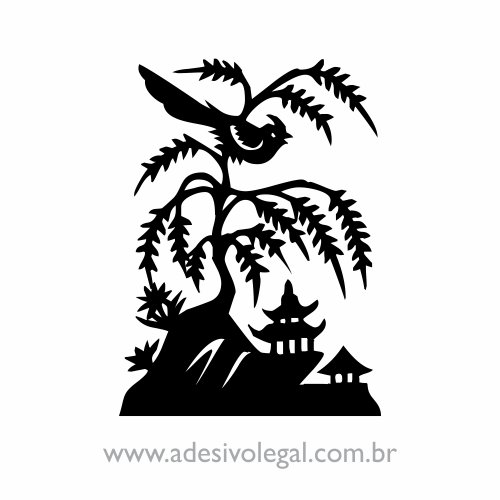 Adesivo - Oriental - Rouxinol