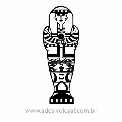 Adesivo - Ornamento Egípcio - Sarcófago