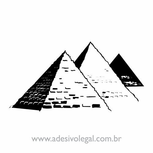 Adesivo - Ornamento Egípcio - Pirâmides