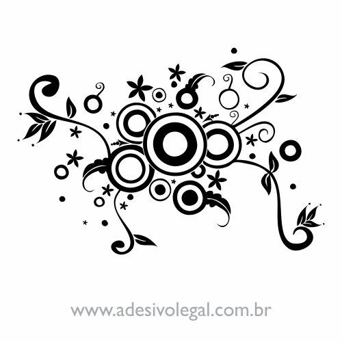 Adesivo - Ornamento com Círculos