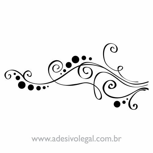 Adesivo - Ornamento com Linhas e Círculos