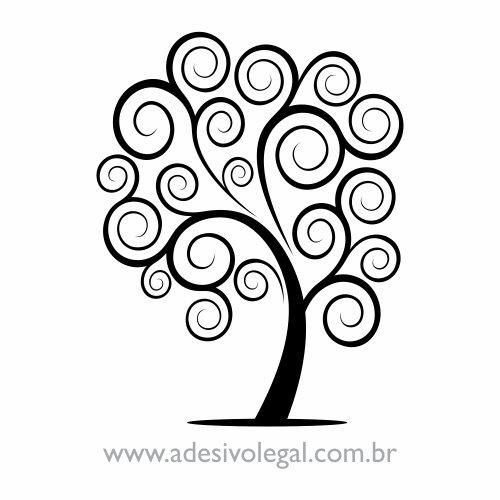 Adesivo - Ornamento Árvore com Linhas