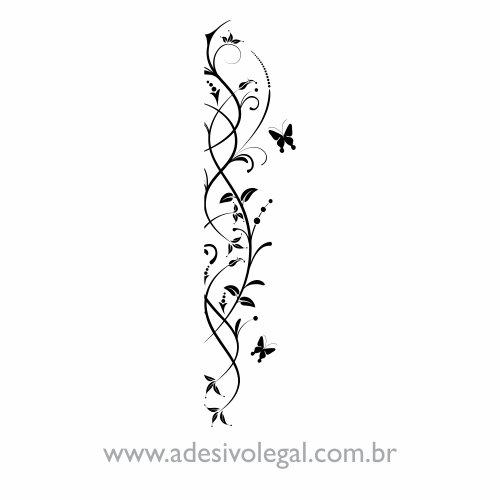 Adesivo - Ornamento Floral de Canto