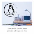Adesivo - Pinguim Linux