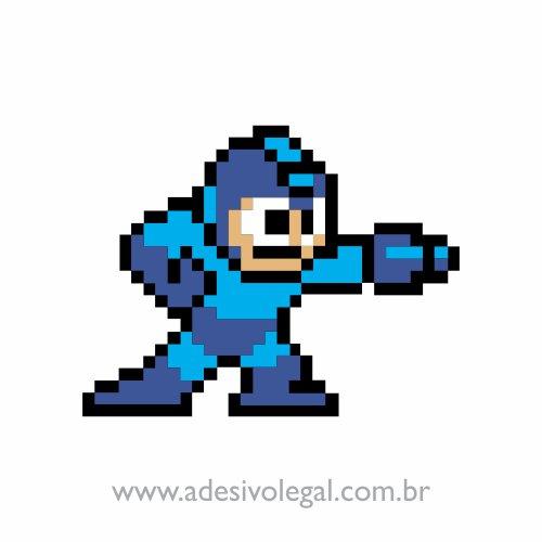 Adesivo - Megaman - 8 Bits