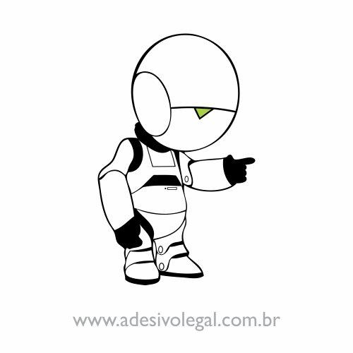 Adesivo - Marvin - O Guia do Mochileiro das Galáxias