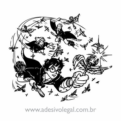 Adesivo - Harry Potter Voando