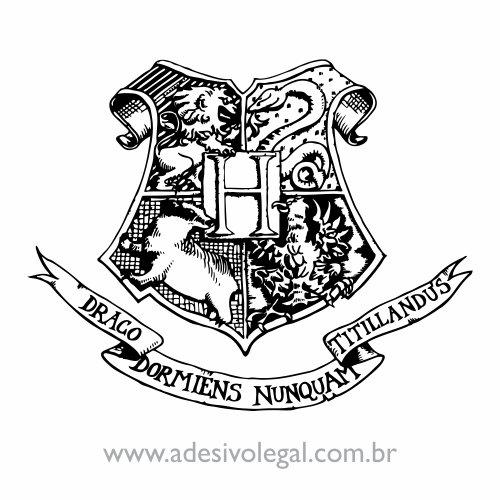 Adesivo - Brasão de Hogwarts