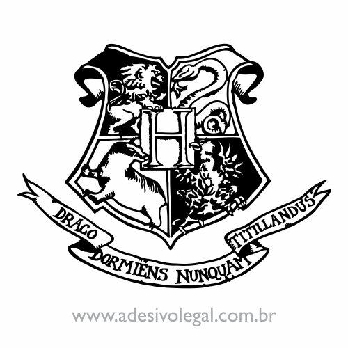 Adesivo - Brasão de Hogwarts - Simples